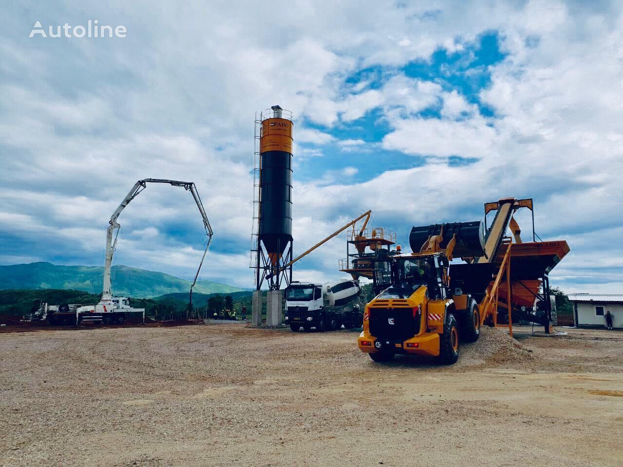 нови фабрика за бетон FABO TURBOMIX-90 MOBILE CONCRETE BATCHING PLANT