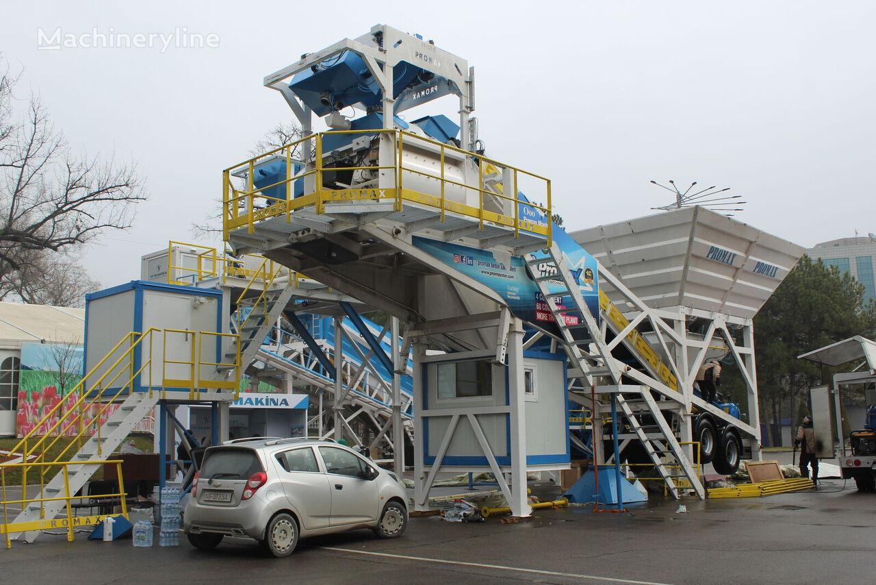 нови фабрика за бетон PROMAX Mobile Concrete Batching Plant M100-TWN (100m3/h)