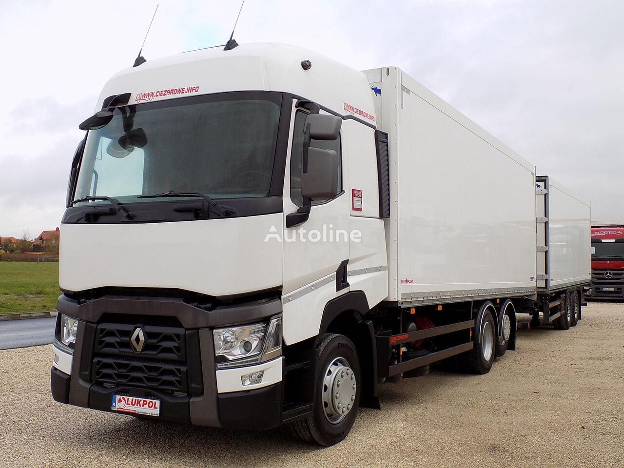 изотермичен камион RENAULT T430 EURO 6 - ZESTAW TANDEM PRZEJAZDOWY - ALL NEW !! + изотермална приколка