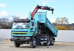 камион кипер RENAULT KERAX 380 DXI KIPPER 5,10m * FASSI F130.AXS /6x4