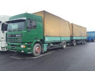 камион со церада DAF 95.430 ATI EURO2 + SCHARZMULLER + приколка со церада