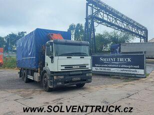 камион со церада IVECO EuroTech 260E27,Euro 3,Hydraulická ruka Panoba