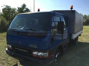 камион со церада MITSUBISHI CANTER DOKA P+P 4m-es platóval