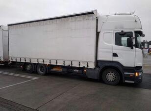 камион со церада SCANIA R450 komplet + приколка со церада