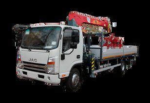 нови камион со рамна платформа JAC Бортовой автомобиль с КМУ FG-414