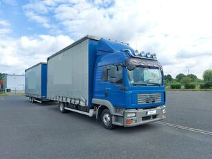 камион со завеса MAN TGL 8.240 + приколка завеса