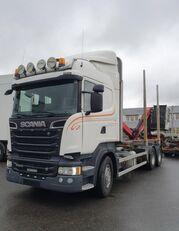 камион за превоз на дрва SCANIA R500 V8 6X4, + Epsilon M110L80, 2016 *incoming*