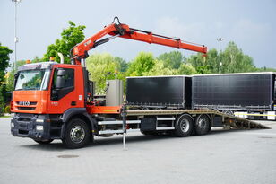 камион за шлепување IVECO Stralis 360, EEV, 6x2, 7.8m tow truck, lift axle , CRANE HIAB ma