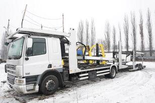 камион за транспорт на возила DAF CF 75 360 , E5 , 4x2 ,MEGA , LOHR , retarder , sleep cab + приколка за транспорт на возила