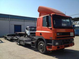 камион за транспорт на возила DAF CF85.380 ATI EURO2 TRUCK / TRACTOR TRANSPORT + TANDEM + приколка за транспорт на возила