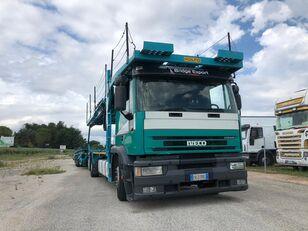 камион за транспорт на возила IVECO EUROTECH  bisarca veicoli + biga Rolfo