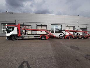 камион за транспорт на возила IVECO Stralis + приколка за транспорт на возила