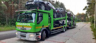 камион за транспорт на возила RENAULT Premium 410 + приколка за транспорт на возила