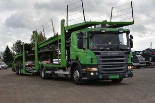 камион за транспорт на возила SCANIA P 380 + приколка за транспорт на возила