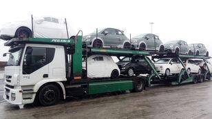 камион за транспорт на возила IVECO STRALIS 450 + приколка за транспорт на возила