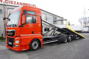 камион за транспорт на возила MAN TGX 26.440 XXL , E6 , 6X2 , NEW BODY 7,5m , hydraulic , 2x winch