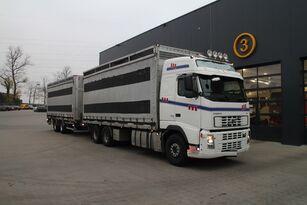 возило за транспорт на живина VOLVO FH12.480 6x4 + приколка фургон
