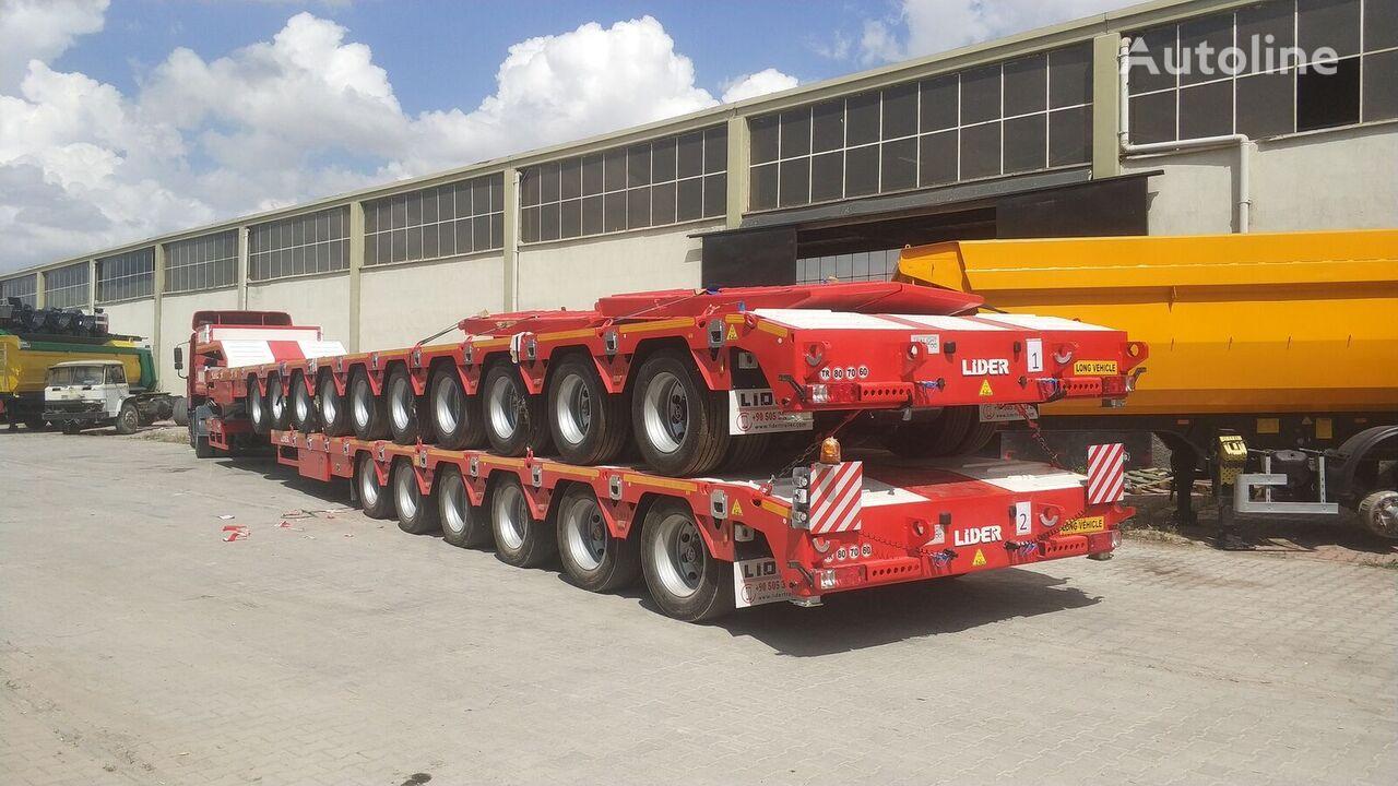 нови полуприколка со ниска платформа LIDER 2021 model 150 Tons caapcity Lowbed semi trailer